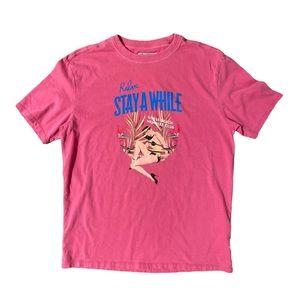 Guess Originals Men's Stay A While Pink T-Shirt